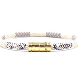 Damier Azur Gold Lock It Size 19 Iconic Bracelet